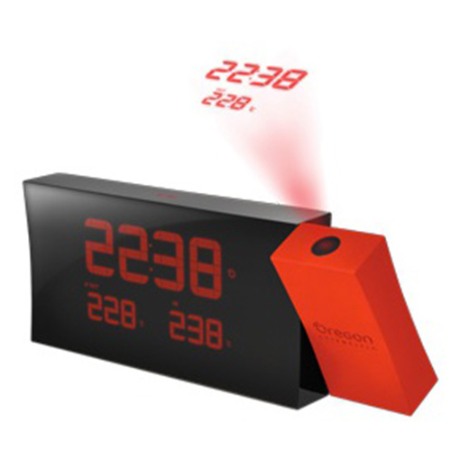 RED CLOCK WITH PROJECTION