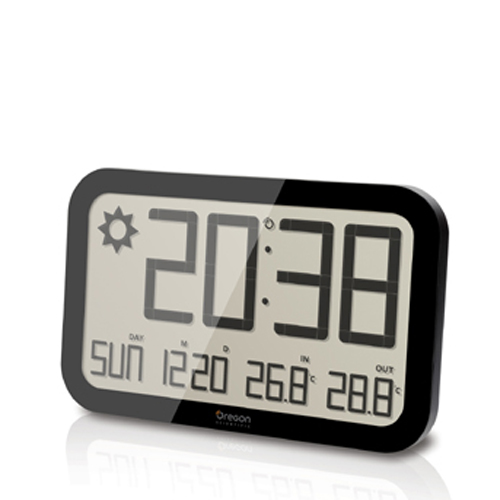 WALL BAROMETER WITH TEMPERATURE IN / OUT BLACK