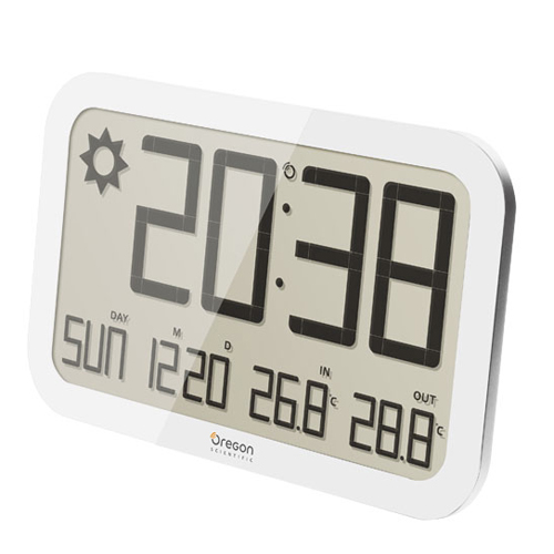 WALL BAROMETER WITH TEMPERATURE IN / OUT WHITE