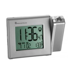 Radio Alarm Clocks TFA SILVER ALARM CLOCK WITH THERMOMETER