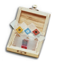 Accessories Ziel WOOD BOX  CONTAINING 10 PLASTIC PREPARED SLIDES
