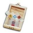 WOOD BOX  CONTAINING 10 PLASTIC PREPARED SLIDES