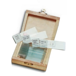 Accessories Ziel WOOD BOX COINTANING 15 PREPARED GLASS SLIDES               IN VETRO ASSORTITI